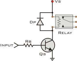 transistor with relay burns out
